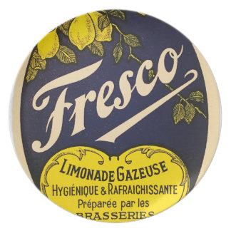 Etiqueta de la bebida del vintage de Limonade Platos De Comidas