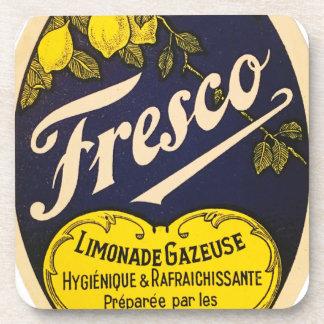 Etiqueta de la bebida del vintage de Limonade Posavasos