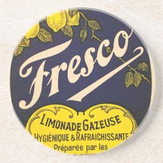 Etiqueta de la bebida del vintage de Limonade Posavasos Para Bebidas