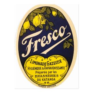 Etiqueta de la bebida del vintage de Limonade Postales