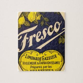 Etiqueta de la bebida del vintage de Limonade Rompecabezas Con Fotos