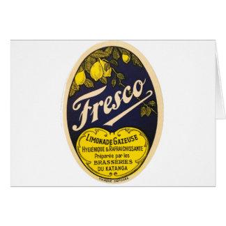 Etiqueta de la bebida del vintage de Limonade Tarjeta De Felicitación