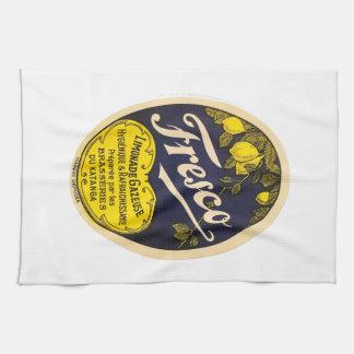 Etiqueta de la bebida del vintage de Limonade Toallas De Cocina