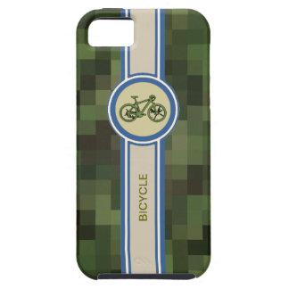 etiqueta de la bicicleta y pixeles verdes funda para iPhone SE/5/5s