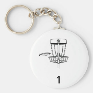 Etiqueta de la bolsa de golf del disco llavero redondo tipo pin