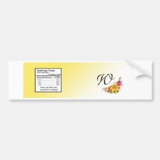 Etiqueta de la botella de agua del boda del ramo d pegatina para auto