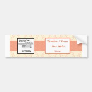 Etiqueta de la botella de agua rosácea/EL formal d Pegatina Para Auto