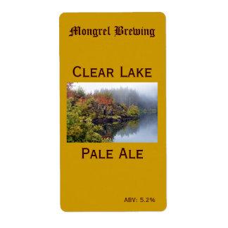 Etiqueta de la botella de cerveza etiquetas de envío