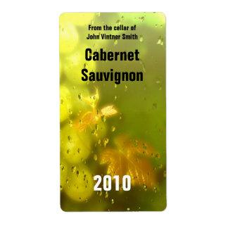 Etiqueta de la botella de vino etiquetas de envío