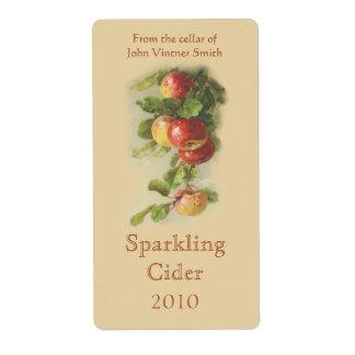 Etiqueta de la botella de vino de Apple Etiquetas De Envío
