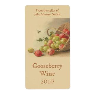 Etiqueta de la botella de vino de la grosella espi etiqueta de envío