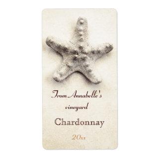 Etiqueta de la botella de vino de las estrellas de etiquetas de envío