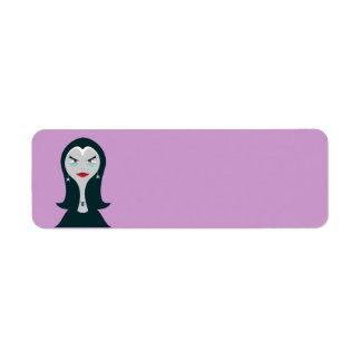 Etiqueta de la bruja de Halloween Etiqueta De Remitente