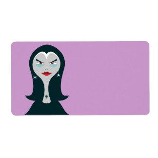 Etiqueta de la bruja de Halloween Etiquetas De Envío