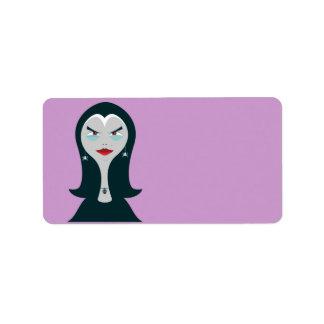Etiqueta de la bruja de Halloween Etiqueta De Dirección