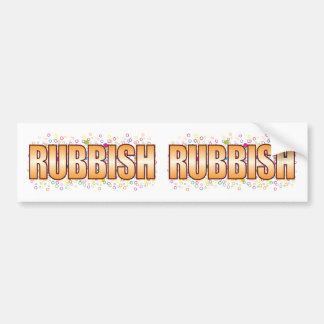 Etiqueta de la burbuja de los desperdicios pegatina para auto