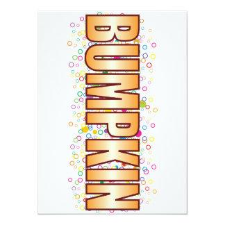 """Etiqueta de la burbuja del Bumpkin Invitación 5.5"""" X 7.5"""""""