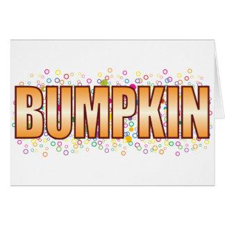Etiqueta de la burbuja del Bumpkin Tarjeta De Felicitación