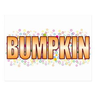Etiqueta de la burbuja del Bumpkin Tarjetas Postales