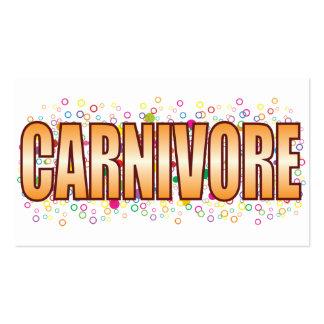 Etiqueta de la burbuja del carnívoro tarjetas de visita