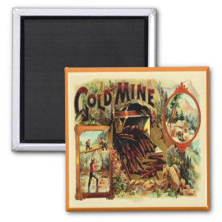 Etiqueta de la caja de cigarros del vintage imán de frigorifico