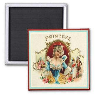 Etiqueta de la caja de cigarros del vintage imanes