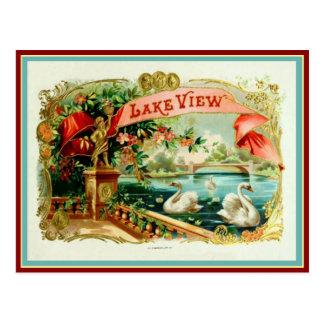Etiqueta de la caja de cigarros del vintage tarjetas postales