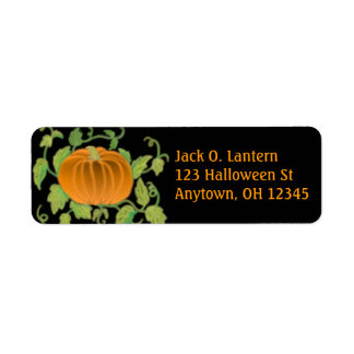 Etiqueta de la calabaza de Halloween Etiqueta De Remitente