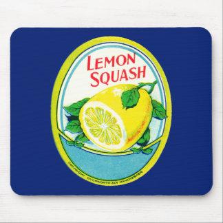 Etiqueta de la calabaza del limón del vintage tapetes de raton
