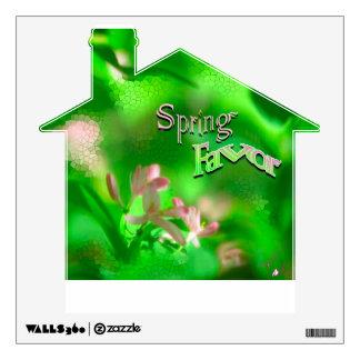 Etiqueta de la casa de la pared de vitral del favo
