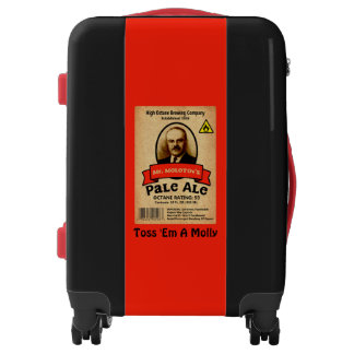 Etiqueta de la cerveza clara de Sr. Molotov Maletas