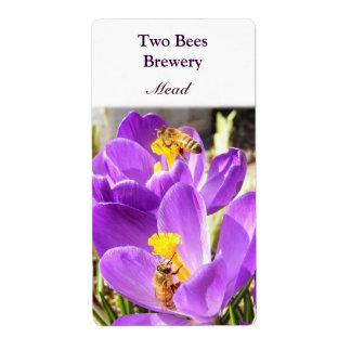 Etiqueta de la cerveza de la aguamiel del de dos etiquetas de envío