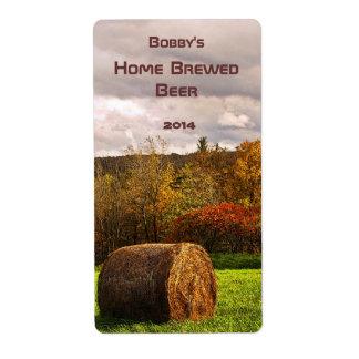 Etiqueta de la cerveza de la cosecha del otoño etiqueta de envío