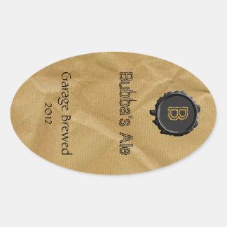 Etiqueta de la cerveza de la mirada de la bolsa de