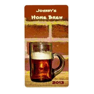 Etiqueta de la cerveza de la taza del Brew Etiquetas De Envío