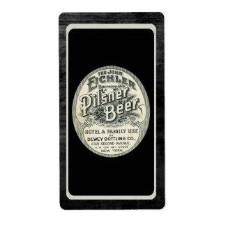 Etiqueta de la cerveza de Pilsner del vintage en n Etiquetas De Envío