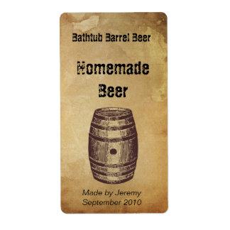 Etiqueta de la cerveza del barril etiquetas de envío