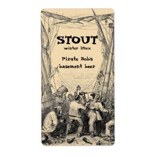 Etiqueta de la cerveza del Brew casero del pirata  Etiqueta De Envío