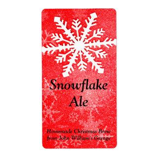 Etiqueta de la cerveza del copo de nieve etiqueta de envío