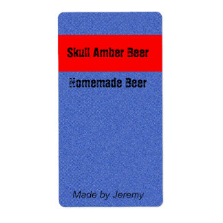 Etiqueta de la cerveza del dril de algodón etiquetas de envío
