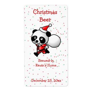Etiqueta de la cerveza del oso de panda del etiquetas de envío