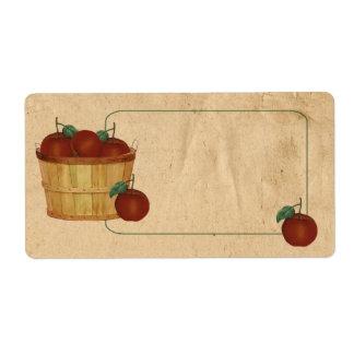 Etiqueta de la cesta de Apple Etiqueta De Envío