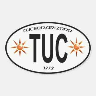 etiqueta de la ciudad de tucson Arizona