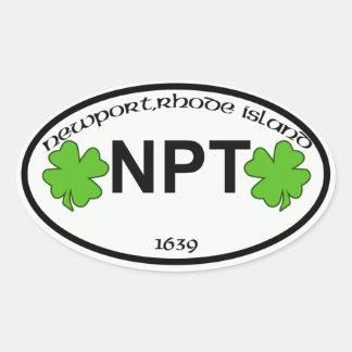 etiqueta de la ciudad del ri de Newport