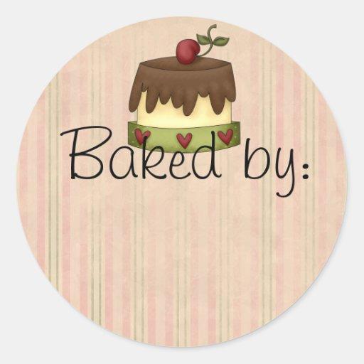 Etiqueta de la cocina de la torta