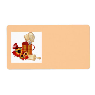 etiqueta de la comida….cocina etiqueta de envío