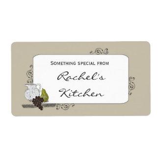 Etiqueta de la comida con aún el ejemplo rústico d etiqueta de envío