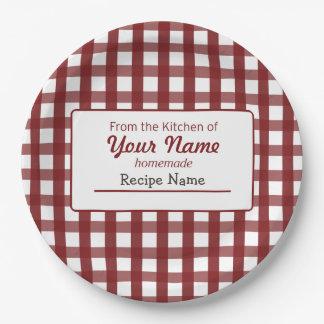 Etiqueta de la comida de la guinga plato de papel de 9 pulgadas
