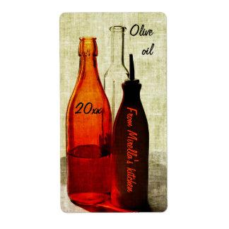 Etiqueta de la comida del aceite de oliva etiqueta de envío