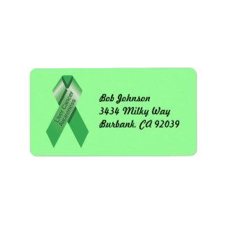 Etiqueta de la conciencia del cáncer de hígado etiquetas de dirección